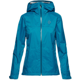 Black Diamond TreeLine Rain Shell Jacket Women, azul